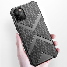 For iPhone 11 Pro Max Case Fashion Silicone Cover Armor Shockproof Phone Case For iPhone 11 Pro Cover Durable Reinforced Bumper(China)
