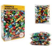 1000Pcs Building Blocks City DIY Creative Classic Bricks Bulk Sets Friends Creator Baseplate LegoINGLs Toys for Children цена 2017