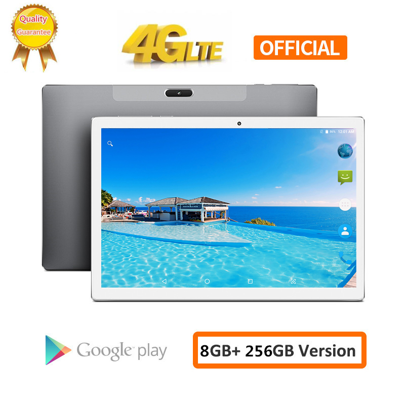 S119 10.1 Inch 2560*1600 8GB RAM 256GB ROM Android 8.0 Tablet PC MTK6797 X20L Deca 10 Core Dual 4G LTE Phone Tablets 8000mAh GPS