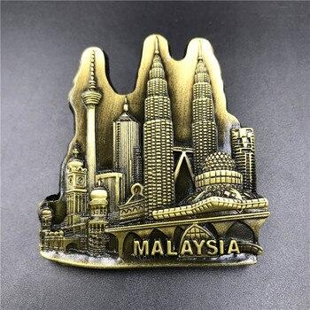 Babelemi nuevo Torres Malasia 3D resina imán de nevera regalo turístico de recuerdo