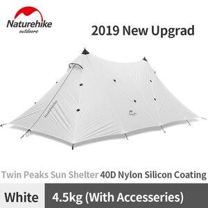 Image 1 - Naturehike שדרוג 10 אדם גדול קמפינג אוהל חיצוני 40D סיליקון ניילון כפול מגדל שמשיה חוף מקלט שמש אוהל