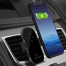 10W Automatic clamping Car Qi wireless charger for iPhone X XR 11 pro xs Samsung S10 S9 S8 Note 10 Air Vent Mount Phone Holder qi car wireless charger for iphone 11 pro xs max xr 8 10w fast wireless charging car phone holder air vent mount auto induction