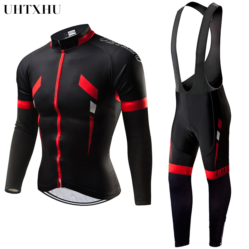 Uhtxhu 2020 Men Cycling Sets Winter Thermal Fleece Cycling Clothing  Bike Kit Cycling Jersey Set Bicycle Jerseys Bicycle Wear