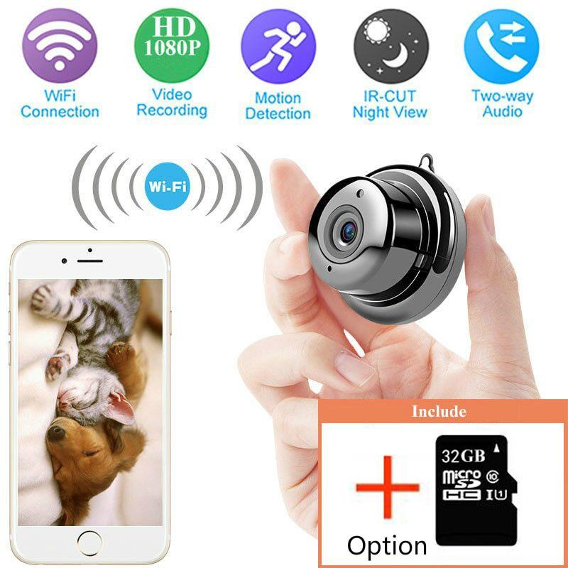 Wireless IP Camera HD 1080P Mini Wifi Camera Network P2P Baby Monitor  CCTV Security Video Camera Two Way 6 IR Leds Nightvision