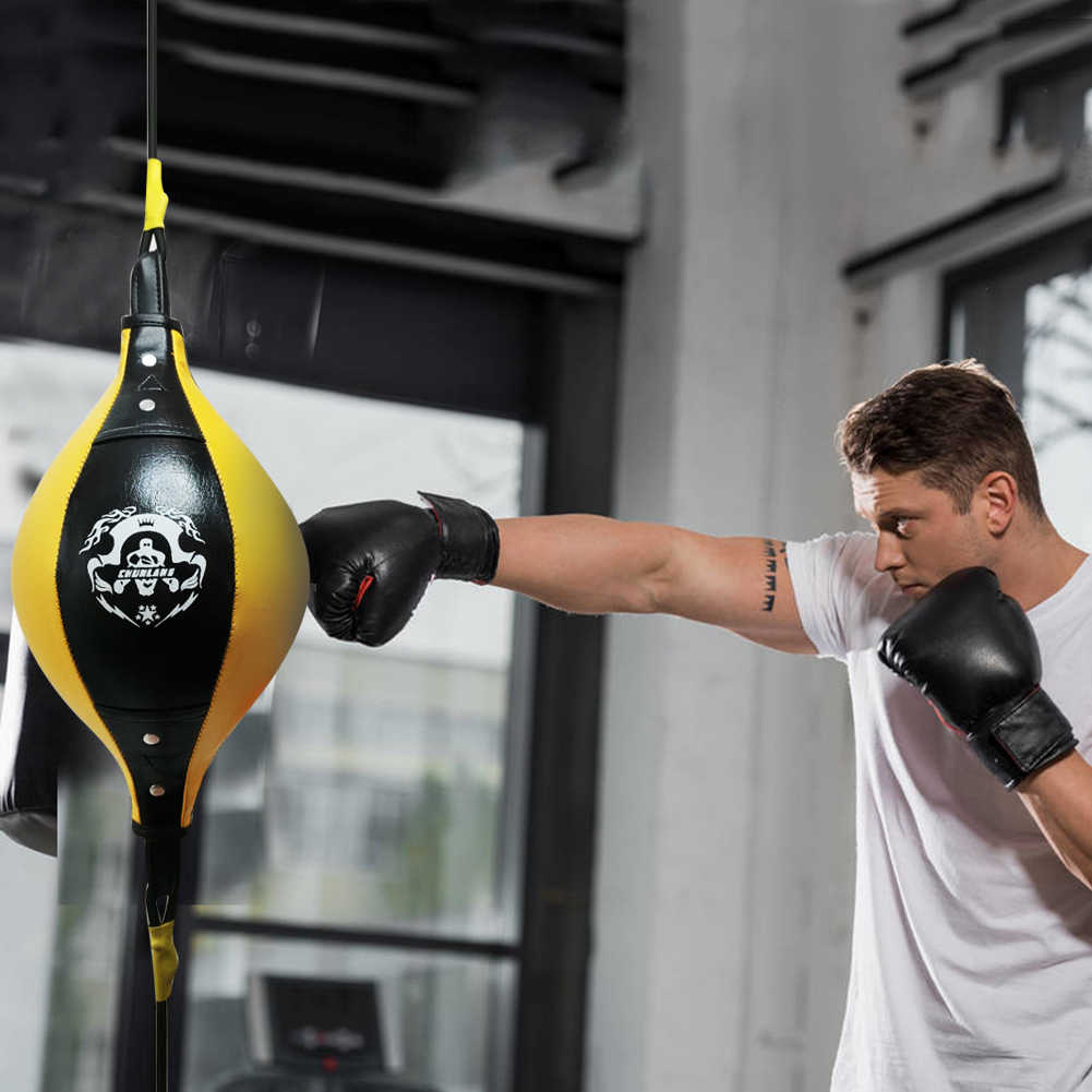 Double End Boxing Speed Ball Inflatable Muay Thai MMA Floor Ceiling Punching Bag