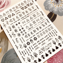 LSK-12 MG-393 Geometric Nail  Decals Back of the hand and palm Eye 3D Back glue Nail decal Nail sticker Nail decoration Nail art new original touch scr een pv037 lsk pl037 lsk high quality