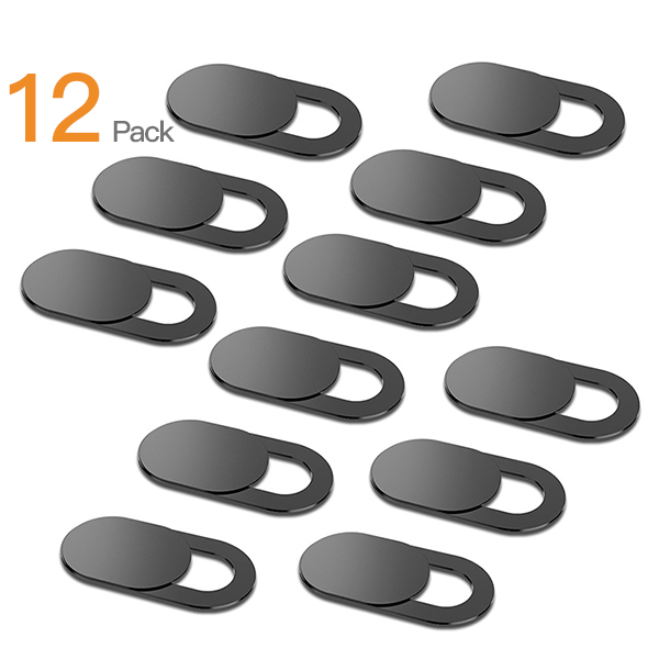 12Pc/lot WebCam Cover Shutter Magnet Slider Plastic For Iphone Laptop Camera Web PC Tablet Smartphone Universal Privacy Sticker