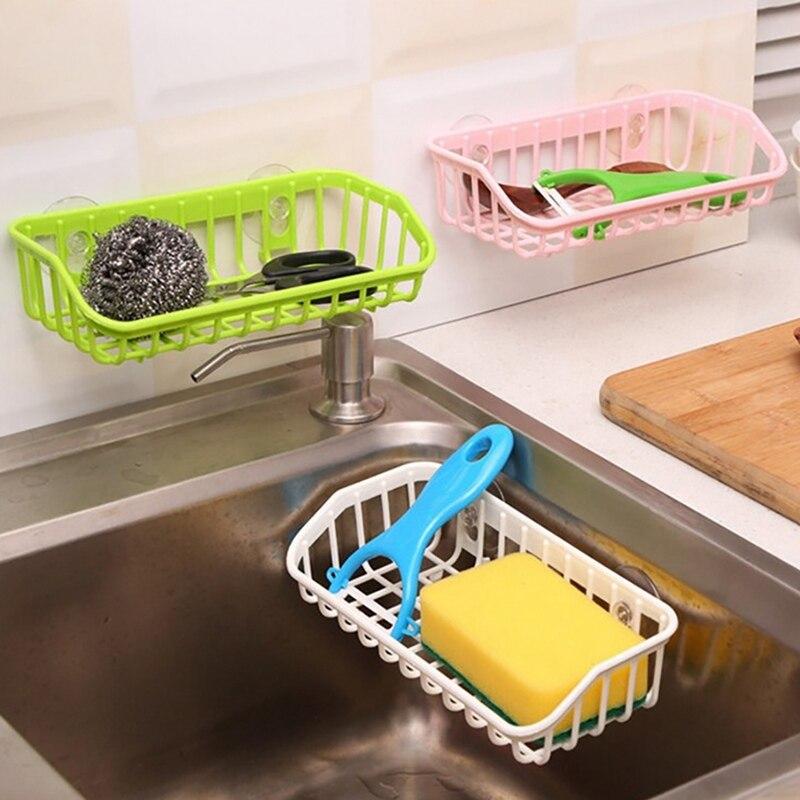 Bathroom Shelf Liquid Drain Rack Bathroom Bracket Kitchen Portable Sink Sponge Drain