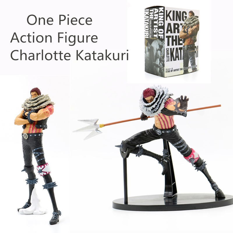 25cm Big size <font><b>One</b></font> <font><b>Piece</b></font> <font><b>Figure</b></font> Charlotte <font><b>Katakuri</b></font> PVC Action <font><b>Figures</b></font> KING OF ARTIST Fighting <font><b>Katakuri</b></font> <font><b>figure</b></font> Collection Toys image