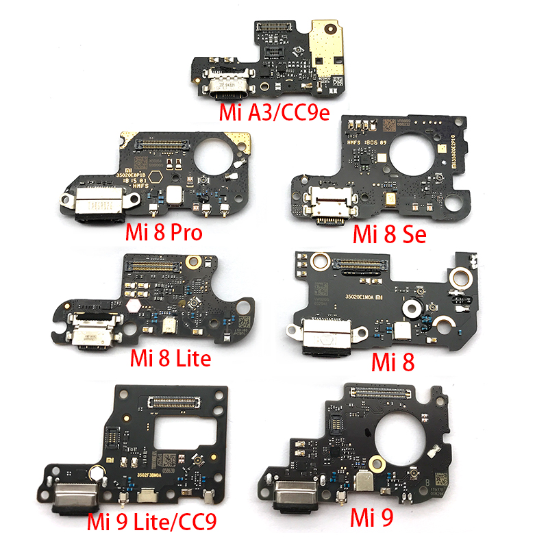 Charger Board PCB Flex For Xiaomi Mi 8 Lite 9 Se 9T CC9 A3 8se USB Port Connector Dock Charging Ribbon Cable