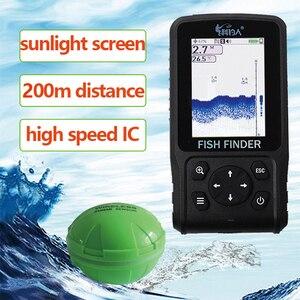 Image 1 - 送料無料 200 真新しい大画面ドットマトリックスフィッシュファインダースマートソナーセンサー、ワイヤレス魚群探知送料無料