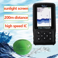 Free Shipping 200meters Brand New Big Screen Dot Matrix Fish Finder smart sonar sensor, Wireless Fish finder  Free Shipping