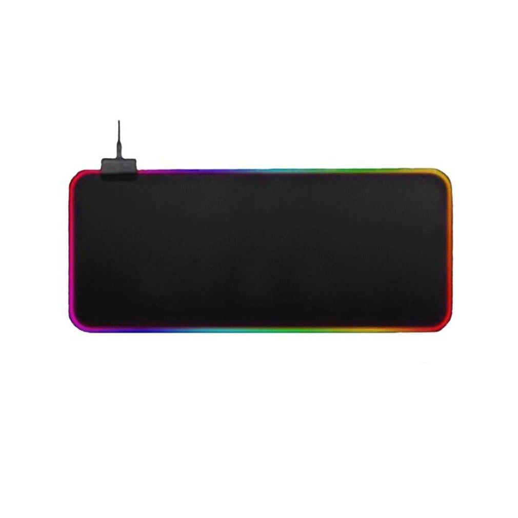Разноцветный RGB коврик для мыши с подсветкой, 1 шт., разноцветный игровой коврик для мыши с подсветкой RGB, большой коврик для мыши