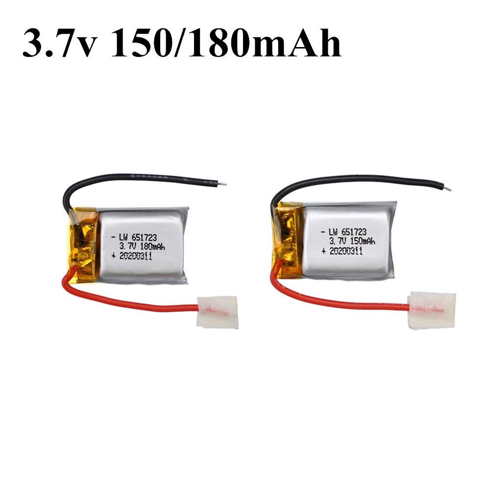 3.7v 150mah 180mah lipo bateria para syma s105 s107 s107 s108 skytech m3 s977 helicóptero peças sobresselentes 3.7v 651723 bateria