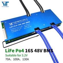 Placa de protección de energía 16S 48V batería de litio 3,2 V protección de temperatura Función de ecualización protección contra sobrecorriente BMS PCB