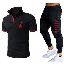 Venda quente marca 2 peça conjunto calções de camisa masculina polo verão calças de manga curta calças finas calças esportivas masculina camisa de basquete