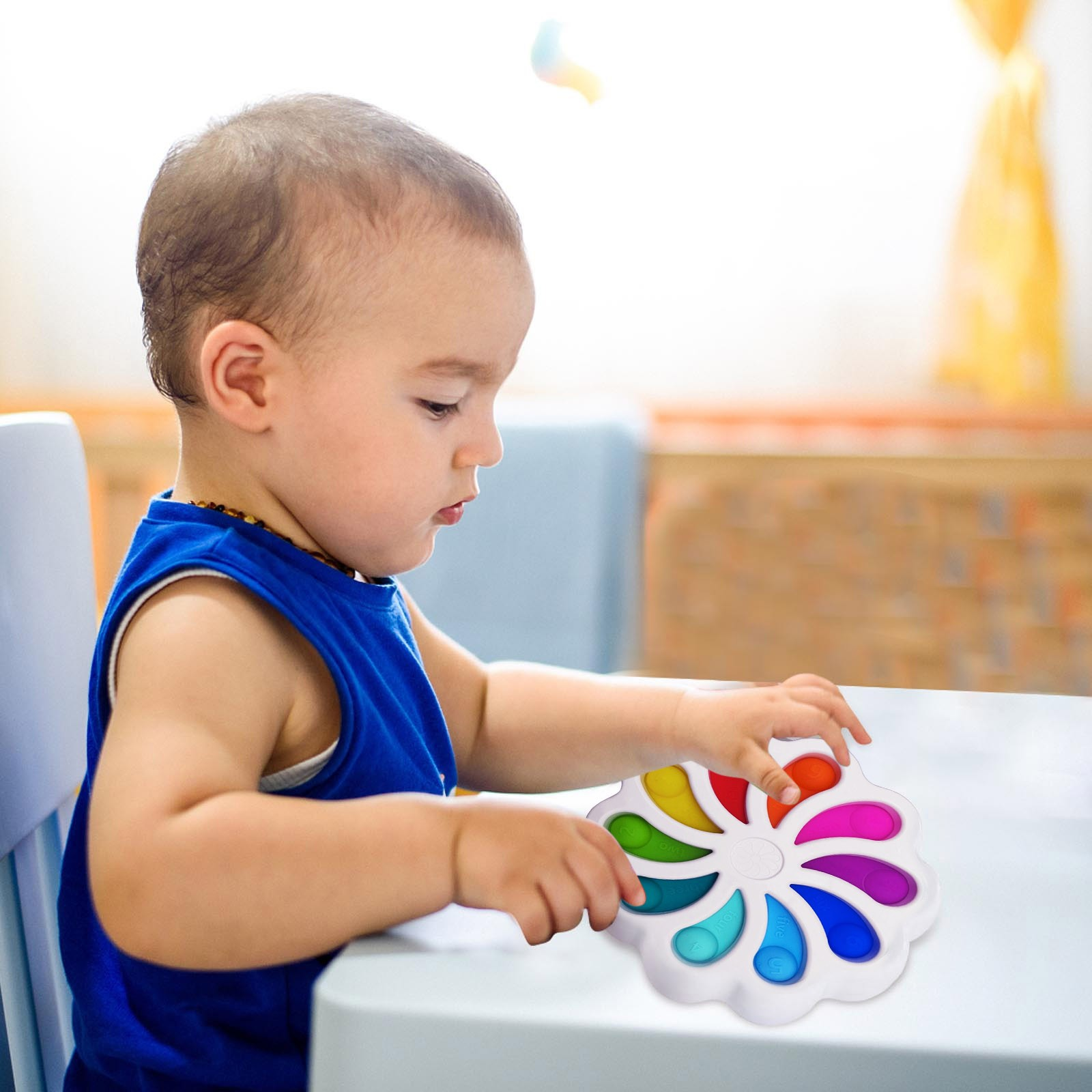 Fidget Toy Sensory-Toys Stress-Relief Dimple Digits Toddlers Soft-Silicone Early-Educational img3