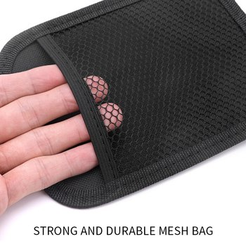 Stowing Tidying Oxford Fabric Car Storage Net Bag Automotive Pocket Multi-use Car Seat Back Organizer image