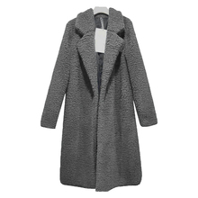 Autumn Women Coat Thin Fashion Solid Plus Size Wool Blend Wh