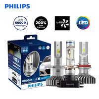 Philips H4 H7 H8 H11 H16 9005 9006 HB3 HB4 12V 6000K X-treme Ultinon LED Car LED Headlight Auto Fog Lamps +200% Brighter,X2