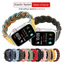 Nylon-Band Bracelet Braided Solo Apple Watch Elastic 6-Se-Strap Woven for Loop 40mm 3-Belt