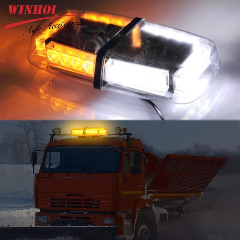 Led Flash voiture lumière stroboscopique étanche 24Led brouillard voyant d'avertissement 12V 24W toit universel clignotant avertissement barre lumineuse d'urgence