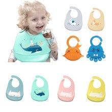 Детские вещи водонепроницаемый силиконовый нагрудник для кормления новорожденных фартуки с рисунком Регулируемые Детские Нагрудники Слюнявчики бандана нагрудники для младенцев