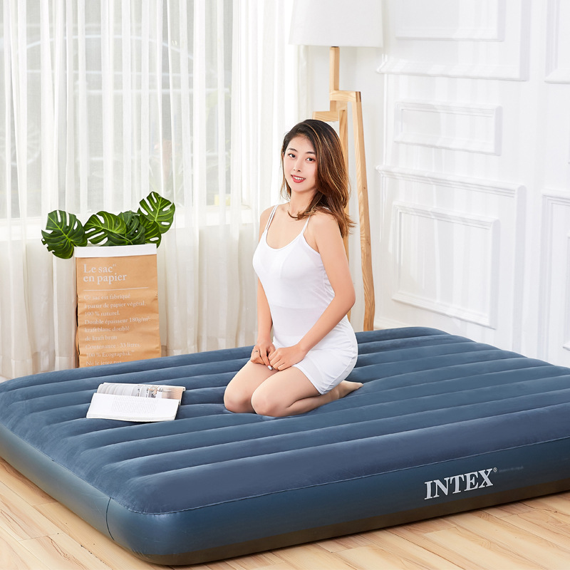 Air Mattress Line Pull Air Bed Flocking Air Mattress Double Outdoor Air Cushion Moisture Proof Cushion Air Cushion Bed