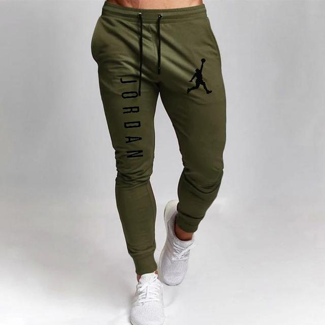 2020 Casual Pants Men Joggers Sweatpants Solid Color Trousers Fitness Sportswear Jogger Track Pant Plus Size S-2XL Summer Spring 5