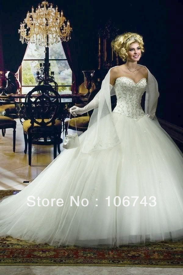 Free Shipping 2018 White Beading Custom Bride Sweetheart Princess Plus Bridal Gown Vestido De Noiva Mother Of The Bride Dresses