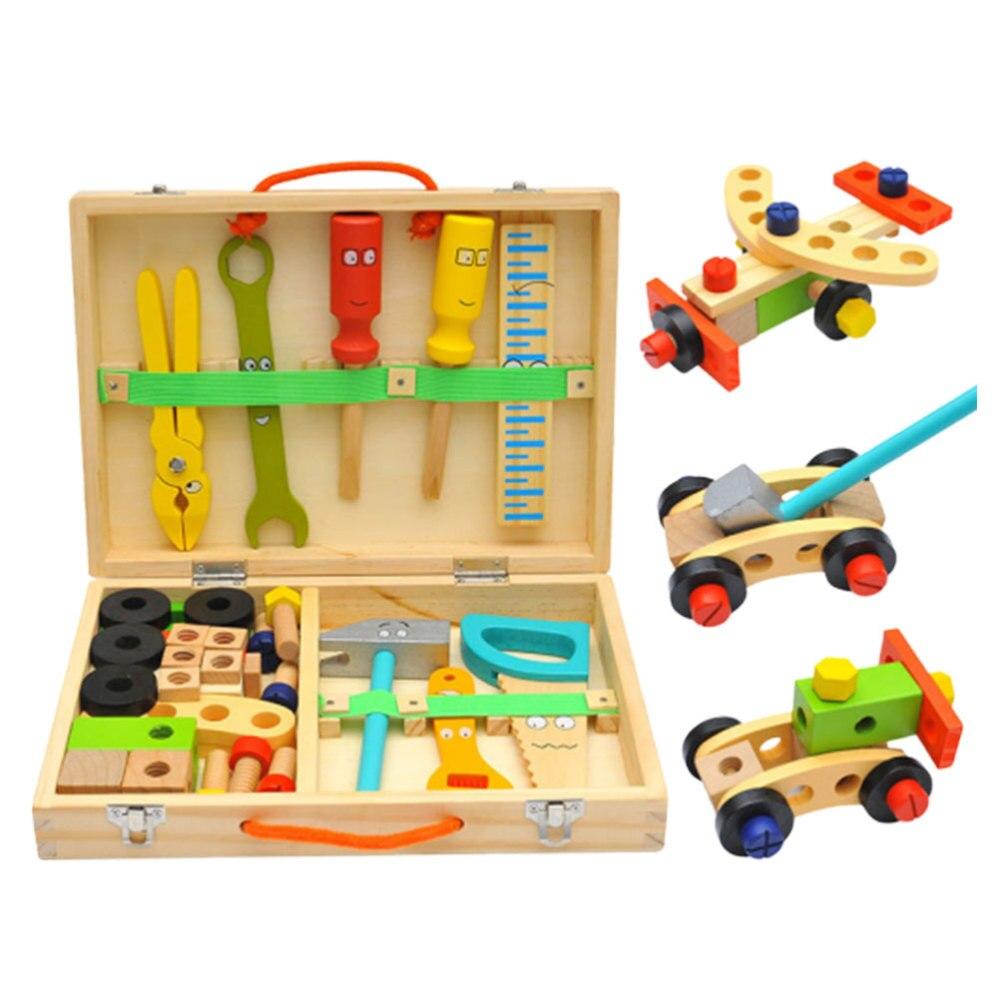 1 Set Childrens Simulation Toolbox Toy Cartoon Toolbox Set Pretend Play Repair Tools Kit Disassembly Repair and Maintenance Tool