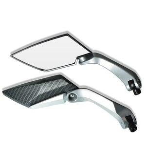 Image 2 - Espejo retrovisor grande para motocicleta, espejos laterales plegables, ajuste de aluminio CNC para yamaha tmax 530 triumph benelli trk 502