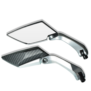Image 2 - Motorbike Motorcycle Big Rearview Mirror Folding Side Mirrors CNC Aluminum Adjusting for yamaha tmax 530 triumph benelli trk 502