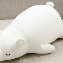 Creative white polar bear Plush toys Stuffed cartoon white bear doll Soft toy cushion