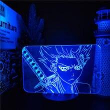 Alvejante hitsugaya toushirou 3d led anime lâmpada nightlights lampara para para casa decoração do quarto