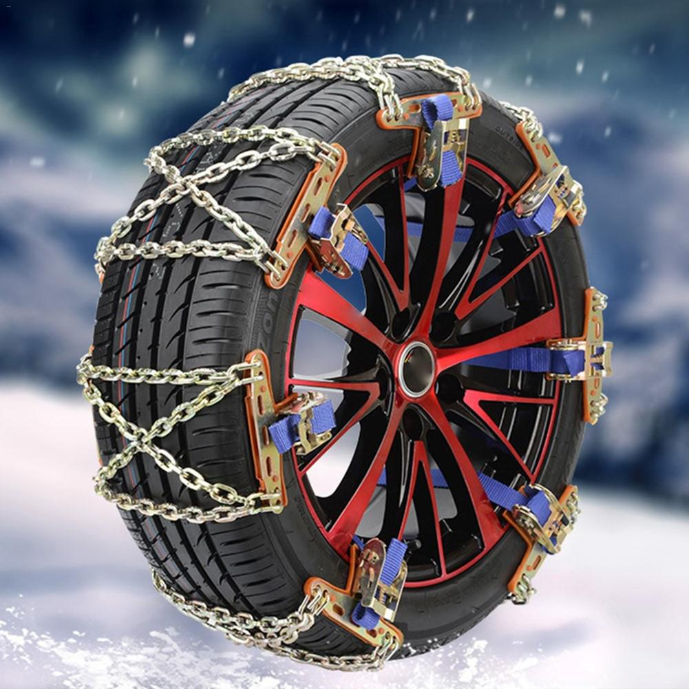 2PCS Universal Anti-slip Car Snow Mud Chain Wheel Tyre Tire Belt Stainless Steel Emergency Anti Skid Snow Chains For Driving image