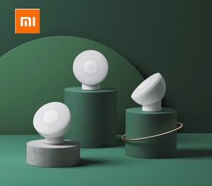 Image 1 - Xiaomi Mijia Led indüksiyon gece lambası 2 lambası ayarlanabilir parlaklık kızılötesi akıllı insan vücudu sensörü manyetik tabanı ile