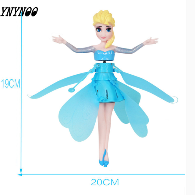 Sensing Fairy Anna Flying Doll Marvel Iron Man Spider-Man Captain America Superman Mini Remote Drone Child Christmas Gift Toy
