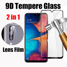 2 in 1 HD Tempered Glass For Samsung Galaxy M20 Protective Screen Protector Back Lens Film