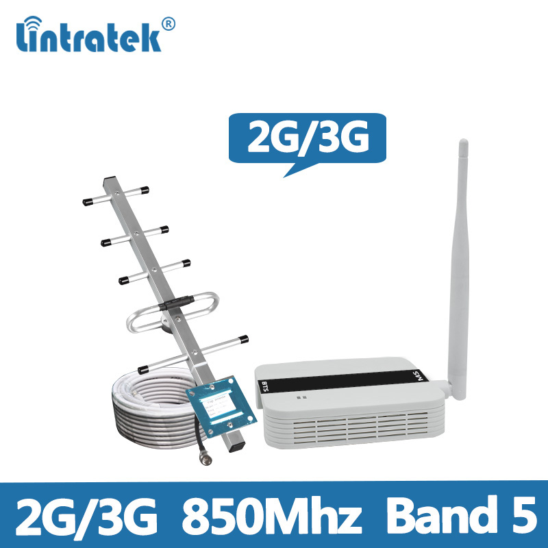 Lintratek NEW Repeater <font><b>850Mhz</b></font> 2G 3G Booster CDMA 850 GSM <font><b>850Mhz</b></font> Repeater Cellphone Signal Amplifier 2G 3G Band 5 Mini size @5 image
