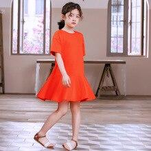 Teen Girls Dress 2020 Summer 100% Cotton Girl Dresses Ruffles Children Casual Dress Clothes School Baby Girls Dresses Fashion neat summer girl dress fashion dresses for girls 100
