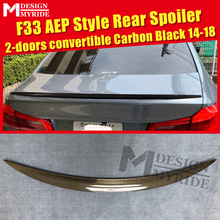 For BMW F33 Spoiler Carbon Fiber Tail Wing 4-Series 420i 428i 430i 2-Door Convertible AEP Style Black 2014-2018