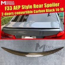 цена на For BMW F33 Spoiler Carbon Fiber Tail Wing Spoiler 4-Series 420i 428i 430i 2-Door Convertible AEP Style Black Spoiler 2014-2018