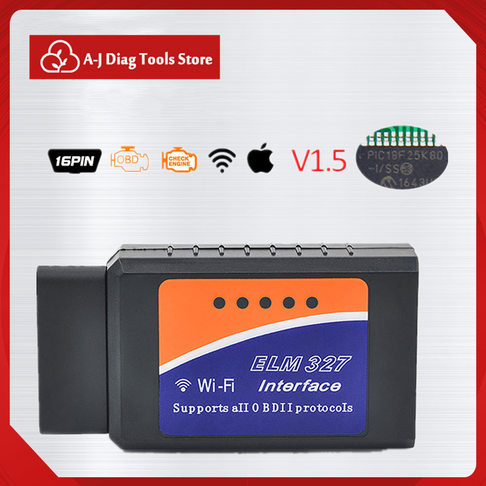 Pratical Code Reader Tool Car Accessories Ethernet To OBD Chip OBD2 WIFI ELM 327 Auto Tools Professional Diagnostic Scanne