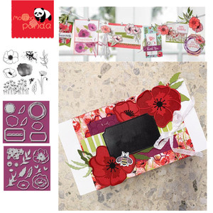 MP046 FLOWER Metal Cutting Dies and Stamps for DIY Scrapbooking Photo Card Making Decor Supplies Embossing Dies Template(China)