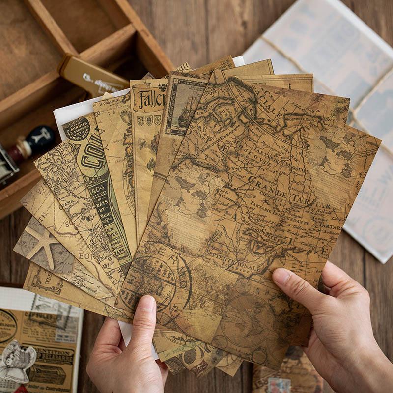 10 Pcs/Pack Retor English Newspaper Material Paper Vintage Kraft Card DIY Sticker Scrapbooking Diary Decoration Stationery