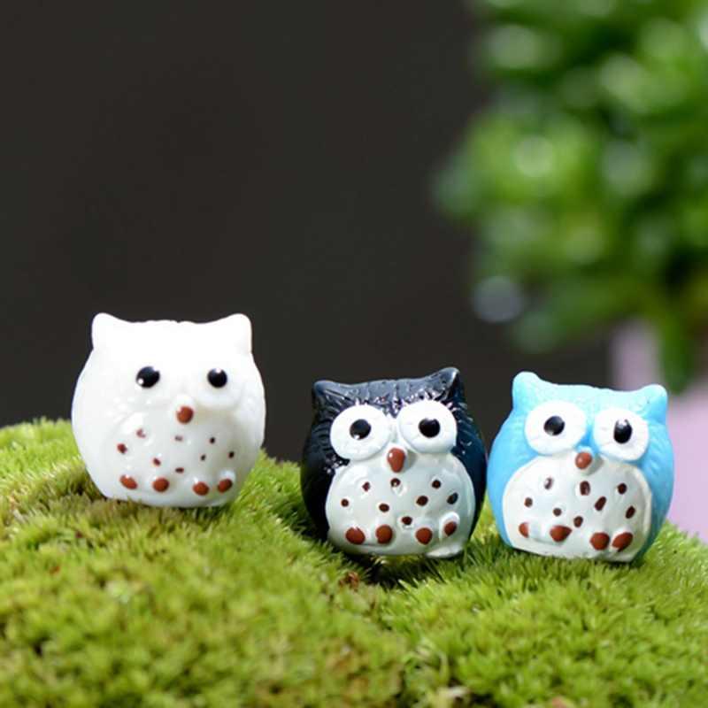 1 Pcs Artificiale Animale Del Gufo in Miniatura Fata Giardino di Casa Case Decorazione Mini Micro Paesaggio Decor 5 Colori!!