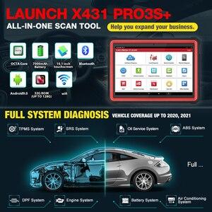 """Image 3 - 2021 Newest LAUNCH X431 pro3s+ 10.1"""" OBD2 Diagnostic Scanner Automotive Auto Diagnostic Tool Car Code Reader Scanner x431 V PLUS"""