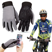 Full Finger Touch Screen Bicycle Gloves MTB Sport Shockproof Cycling Shock Bike Glove son-slip bicycle gloves D40