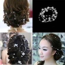 1pc White Pearl Studded Wedding Party Bridal Headpiece Tiara Headdress Hairband Headbands Hair Accessories Hairpins Jewelry
